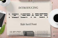 NewspaperSlab Serif font Product Image 1