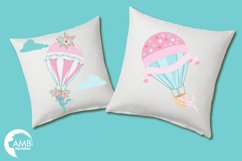 Hot Air Balloons, graphic, illustration, clipart AMB-1388  Product Image 3