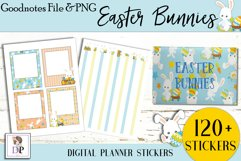 Easter Bunny Digital Printable Stickers Goodnotes PNG Product Image 4