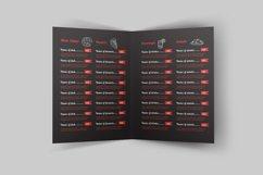 Food Menu Bi-Fold Brochure Product Image 4