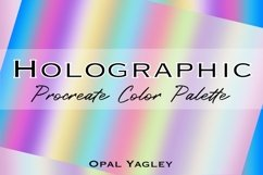 Holographic Procreate Color Palette with Color Guideline Product Image 3