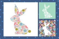 Cute floral Easter bunny. Product Image 2