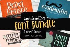 Handwritten Font Bundle - 4 Cut-friendly Fonts Product Image 1