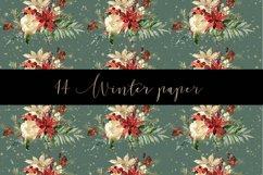 Winter digital paper pattern Product Image 5
