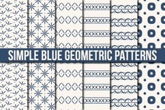 Simple Blue Geometric Patterns Product Image 1