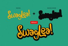 Swaylea | Layered Font and Dingbats Product Image 2