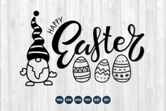 Gnome Happy Easter SVG. Happy Easter Svg, Gnome Svg Product Image 1
