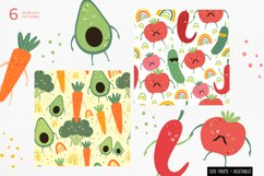 Funny fruits & vegetables, Seamless pattern. Product Image 4