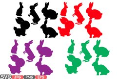 Easter bunny SVG shirt bunny ears outline frame 635S Product Image 4