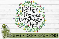 Everything's Fine Christmas Lights SVG Cut File Product Image 2