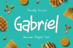 Gabriel - Awesome Playful Font Product Image 1