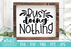 Busy Doing Nothing SVG - Funny Vacation or Retirement Quote Product Image 3