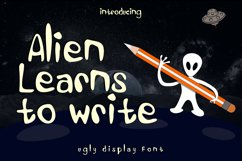 Alien Learns To Write Product Image 1