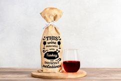 Wine Bag SVG Bundle, Christmas Wine SVG files for Cricut Product Image 13