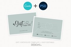 Gift Certificate Template, Editable Gift Certificate Product Image 1