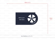 Tyre service business card template cutting file Product Image 4