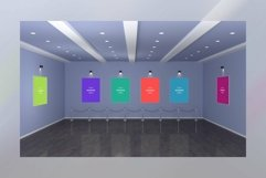 Art Gallery Frames Mockup with spot lights Product Image 1