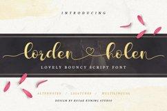 Lovely Script - Lorden Holen Font Product Image 1