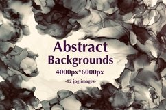 12 Dark Alcohol Ink Backgrounds. Product Image 1