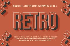 5 Retro Text Effect Graphic Styles Vector Product Image 4