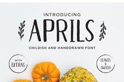 Aprils Sans Handdrawn Font Product Image 1