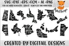 Canadian Province Word Art SVG Bundle Product Image 1