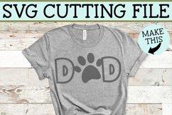 Dog Dad / Cat Dad Paw Print SVG File Product Image 4