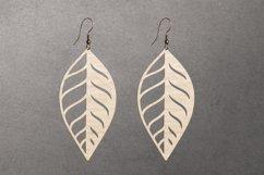 Leaf earrings, earrings svg bundle, earring template leather Product Image 6