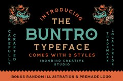 The Buntro Typeface and EXTRA Product Image 1