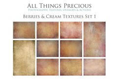 10 Fine Art BERRIES & CREAM Textures SET 1 Product Image 1