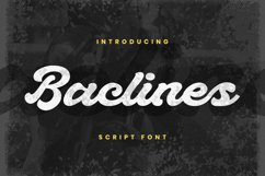 Baclines Font Product Image 1