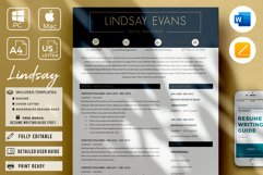 Professional Resume Template Bundle, Cover Letter, Reference Product Image 1