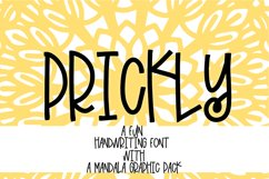 PRICKLY - A Hand Lettered Font With Mandala Extras Product Image 1