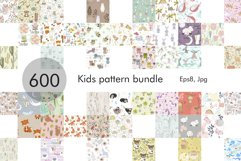 600 Kids pattern Bundle. Product Image 1