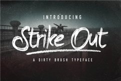 Web Font The Strike Out Typeface Product Image 1