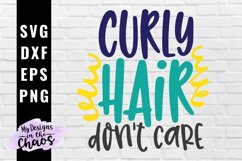 Curly hair SVG PNG EPS DXF | Girl SVG Product Image 1