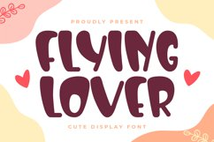 Flying Lover-Cute Display Font Product Image 1