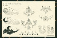 Abstract Linear Christmas Winter wonderland Clipart Product Image 5