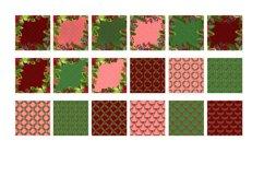 Christmas digital papers - Royal Christmas wreath Product Image 4