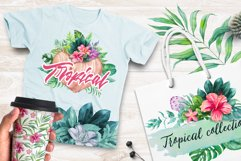 Tropical. Watercolor illustrations. Product Image 5