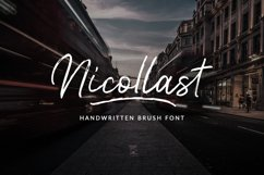 Nicollast Handwritten Brush Font Product Image 1