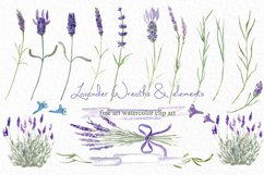 Lavender wreaths watercolor clipart Product Image 1