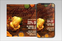 Thanksgiving A4 Flyer & BONUS! Product Image 3