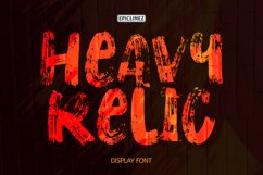 Heavy Relic - Display Font Product Image 1