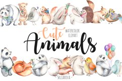 Watercolor cute Animals Product Image 1