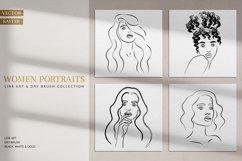 Women Portraits. Line Art Collection. Product Image 1