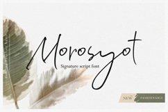 Morosyot Script Signature Product Image 1