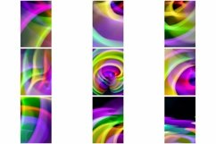 110 Photographs of Abstract Neon Swirls and Lines Product Image 6