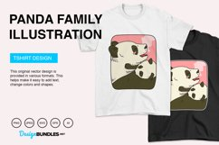 Panda Family Vector Illustration Product Image 2
