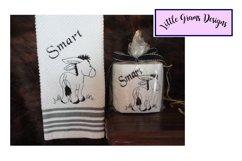 Donkey Smart Toilet Paper Towel Embroidery Design Product Image 1